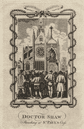 Dr Shaw preaching at Saint Paul's Cross. Old St Paul's Cathedral. HARRISON 1776